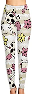 VVCTCT Women`s Calico Cow Printed Leggings Stretchy Brushed Buttery Soft Tights