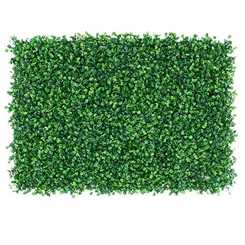 WanuigH-Home Wurzelnackte Grün Hedging Künstliche Boxwood Panels Pflanze Privacy Screen UV-Schutz-Zaun Patio Hinterhof Topiary Hecke Baum Pflanzen (Farbe : Grün, Größe : 60x40cm)
