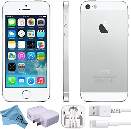 Apple iPhone 5s Plata 32 GB (Renewed)