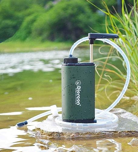 POSPORT Personal Portable Filtre d'eau, pour extérieur Survie Randonnée Camping, élimine 99,9% des Bactéries Filtre à 0,01 Microns Paille Eau