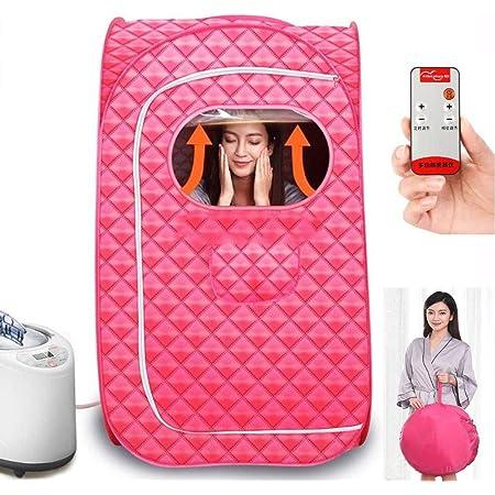 GJXJY Portable Home Sauna Infrarouge Spa Tente Cabine de Sauna Vapeur pour la Fatigue de Stress de Perte de Poids avec Télécommande