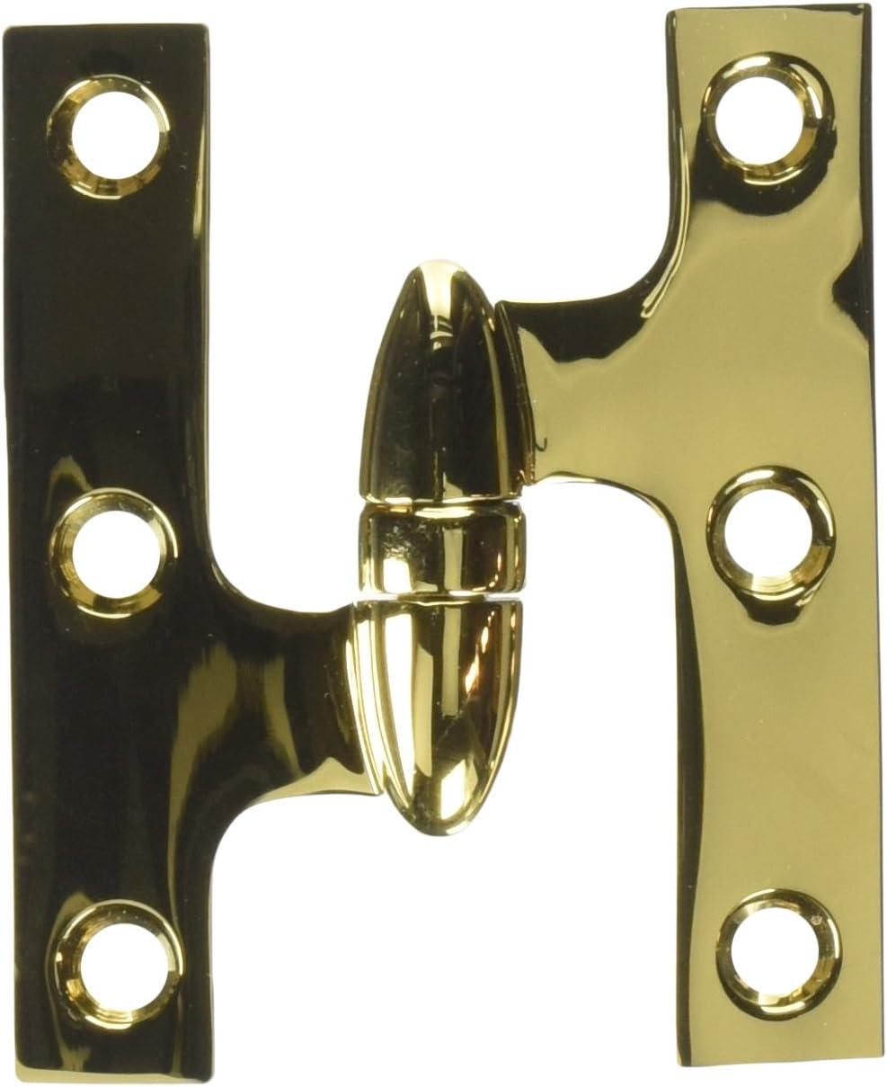 Deltana OK3025BCR003-L Solid Brass 3-Inch x 2 Knu 毎日続々入荷 2-Inch 1 Olive 超定番