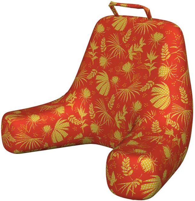 Ambesonne Floral Reading Cushion with Back Max 88% OFF half Leav Pocket Tropical