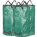 GardenMate - 3 Sacos de jardín 120L, Tejido de polipropileno (PP), Verde