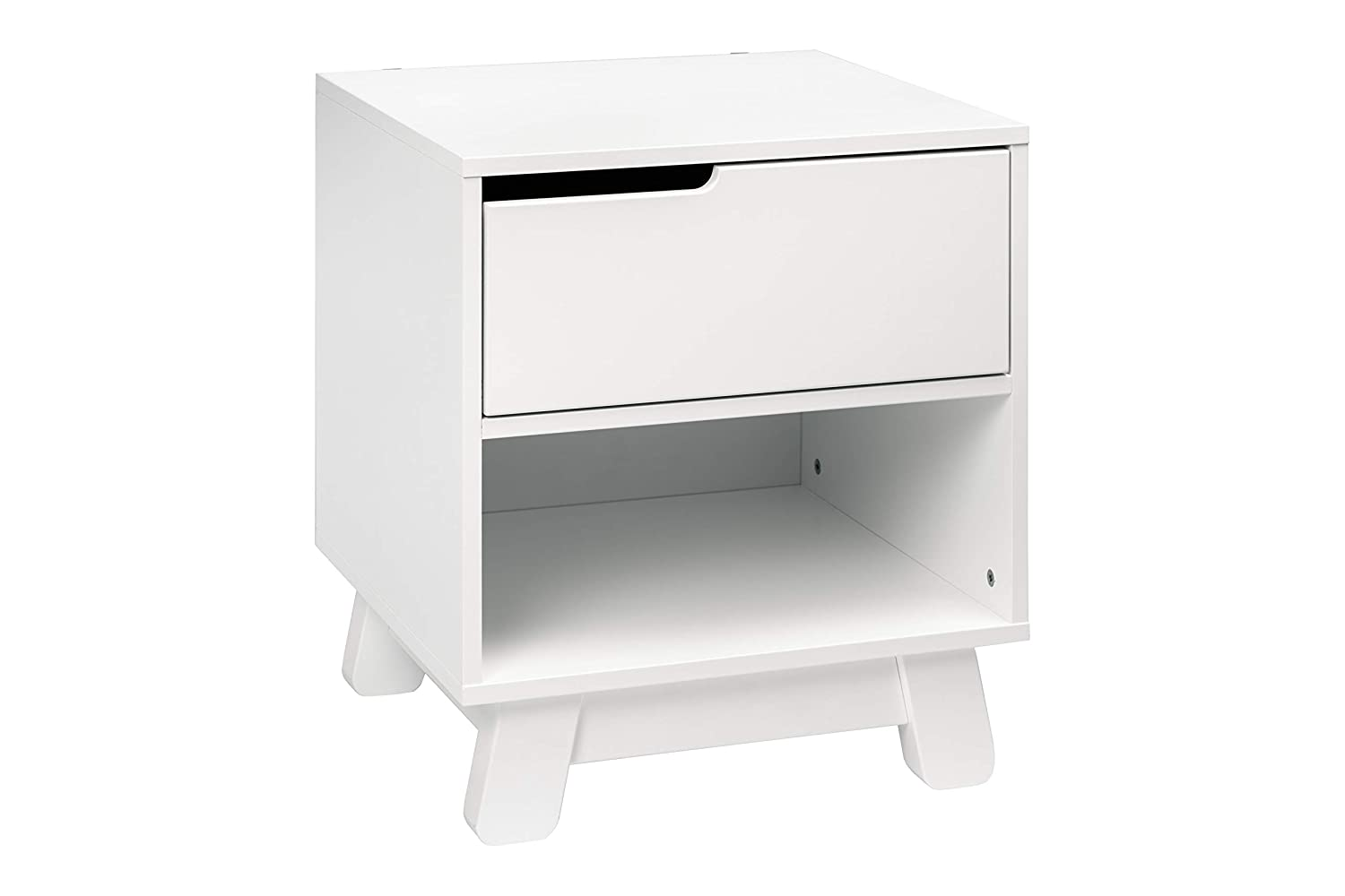 Babyletto Quality Direct stock discount inspection Hudson Nightstand with Port White in USB
