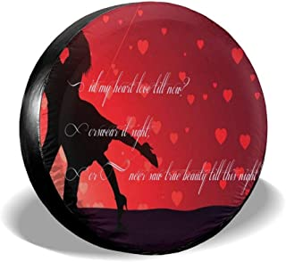 All agree Spare Tire Cover Happy Valentine's Day Romantic Weatherproof Wheel Cover Protects Tires from Sun, Dirt, and Corrosion Fit for Car,Trailer, RV, SUV and Many Vehicle