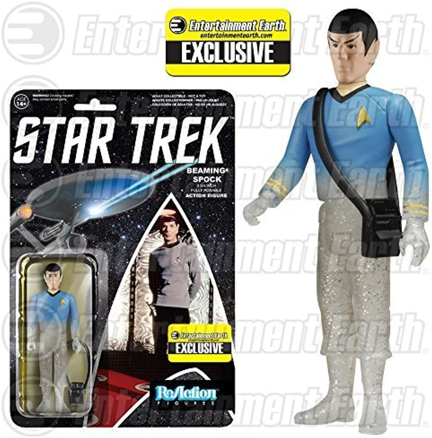 Star Trek  The Original Series Beaming Spock ReAction 3 3 4-Inch Retro Action Figure - EE Exclusive by Funko B017CABY4Q Helle Farben   | Vogue