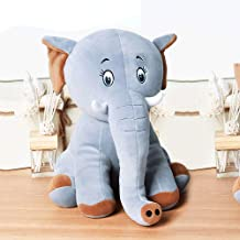 Zzlush Plush Doll Figurine Toy Pet Pillow Animal, Elephant Plush Toy Baby Boy Girl Hold Go To Bed Pillow Small Lovely Doll Figurine Birthday Gift (Color : Gray, Size : 28CM)