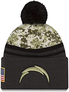 New Era Los Angeles Chargers Salute to Service Knit Beanie Digi Camouflage Charcoal Sport Knit NFL 2018 Beanie Unisex Hat, OSFM