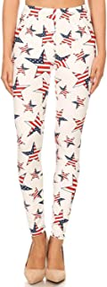 New Mix Patriotic USA American Flag Print High Waisted Leggings for Women