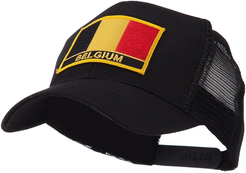 e4Hats.com Europe Flag Letter Patched Mesh Cap