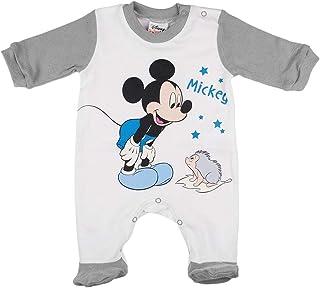 Kleines Kleid Baby Junge Kleidung Langarm Strampler Schlaf-Anzug Einteiler Sachen mit Mickey Mouse Disney Größe 56 62 68 74 80 86 1 2 3 4 5 6 7 8 9 10 11 12 Monate Geschenk
