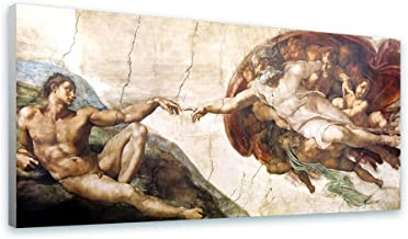 Alonline Art - The Creation Of Adam by Michelangelo | print on canvas | Ready to frame (synthetic, Rolled) | 70