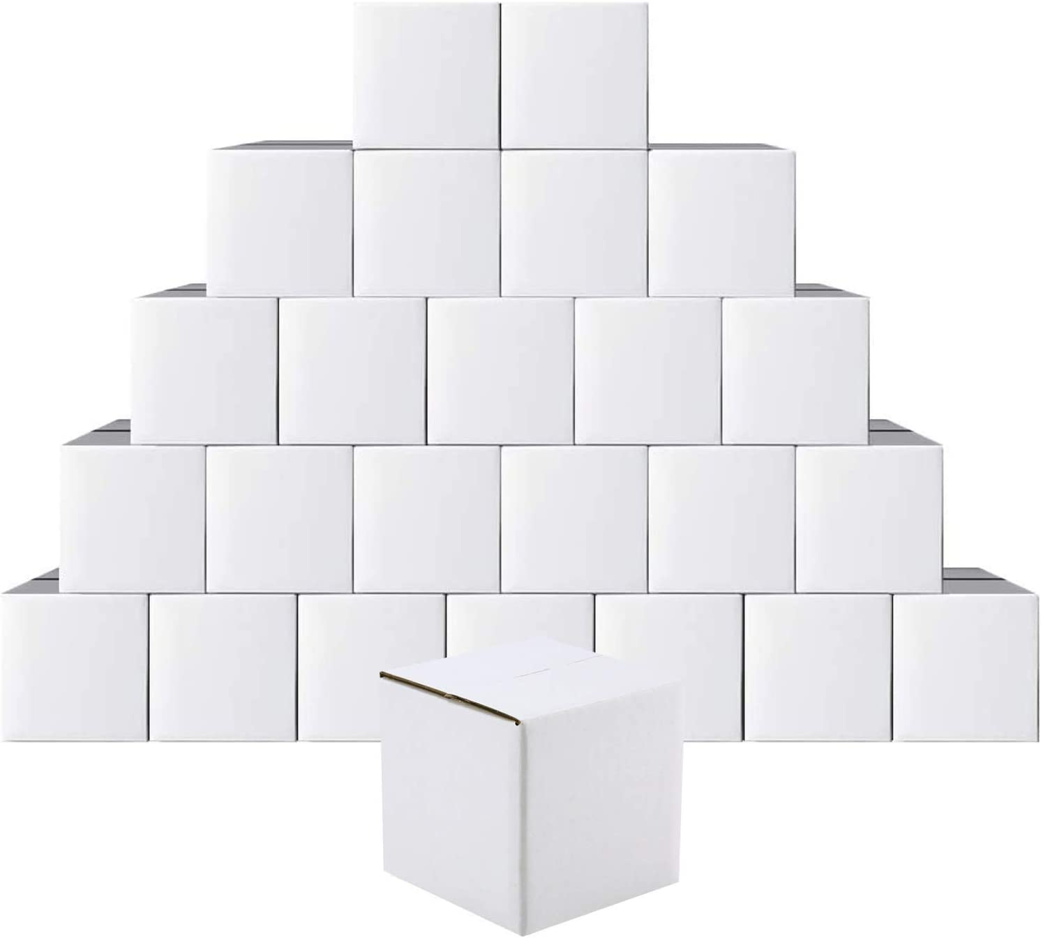 MUKOSEL 5x5x5 Columbus Mall Inches White Cardboard of Shipping 25 Pack Boxes Fort Worth Mall