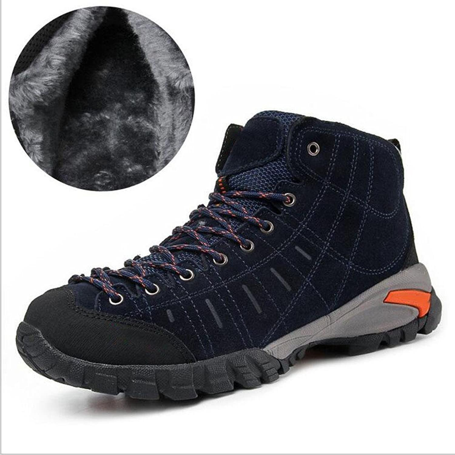 Z&HX sportsAutumn and winter plus cashmere warm high to help climbing shoes hiking shoes outdoor cotton shoes