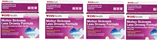 CVS Health Motion Sickness Less Drowsy Formula 30 Chew-able Tablets(Pack of 4)
