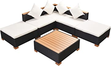 Festnight Outdoor Lounge Set, Garden Lounge, Outdoor Sofa Rest Area for Sunbathing and Family Party Waterproof Furniture W...