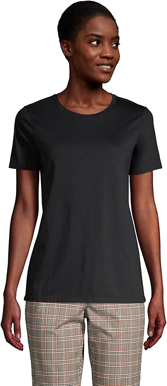 Lands' End Women's Relaxed Supima Cotton Short Sleeve Crewneck T-Shirt