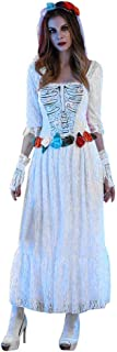 Women Halloween Sexy White Lace Corpse Bride Dress Halloween Cosplay Party Costume