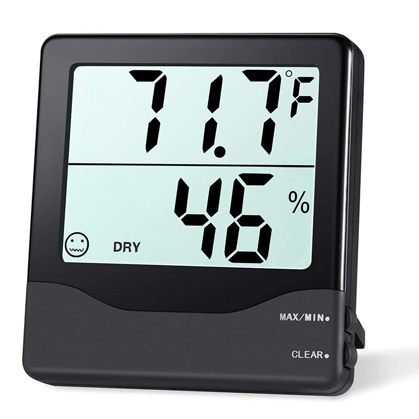 ORIA Digital Hygrometer Thermometer, Indoor Thermometer Humidity Monitor, Temperature Humidity Gauge Meter, with Comfort Indicators, MIN/MAX Records, Switch, for Home, Office, Greenhouse, Room