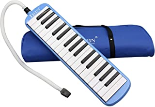 ammoon 32 Piano Keys Melodica Musical Education Instrument (Blue)