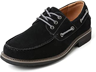 ZRIANG Mens Boat Shoes Castaway Suede Casual Slip on Loafers