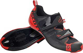 Mens Road Tri Pro Bike Shoes - 251821 (Black/Neon Red Gloss - 43)