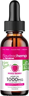 Hemp Oil - (1000 MG) - New Mixed Berry Flavor - Natural Pain Relief & Anxiety - Hempfine - Proudly Grown & Made in USA