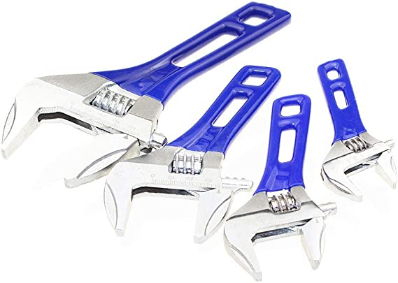 Size : 8 inch Adjustable Wrench,4-8 inch Mini Adjustable Wrench Nut Key Spanner Universal Short handle