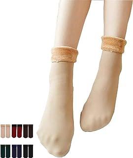 Chagoo, Calcetines térmicos de invierno de terciopelo cómodamente, calcetines de deslizador de invierno acogedores súper suaves y cálidos