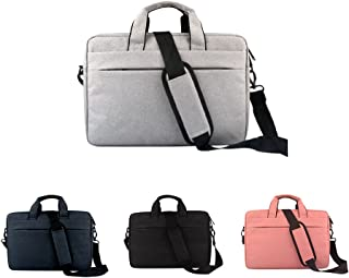JJJJD Laptop Crossbody Briefcase Messenger Tote Bag Casual Handbag for Notebook Computer Tablet Leather Men's Business Briefcase (Color : Gray, Size : 15inch)