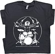 Davinci Drums T Shirt Funny T Shirt Rock Drummer Set Tee Band Drumming Guitar Gift for Men Women Teen Kid