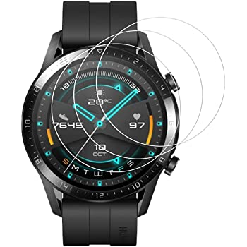 【3張】HUAWEI Watch GT2 46mm 玻璃膜 KAKUP 鋼化玻璃 保護膜 日本旭硝子制造 2.5D 9H硬度 液晶保護 耐沖擊 高透過率 防塵 防指紋 防氣泡 簡單貼 HUAWEI Watch GT2 保護膜