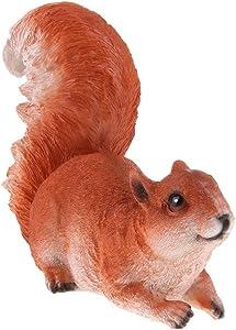 FLAMEER 2 Piezas Animales Artificiales Ardillas para Decorar Jardín Escultura de Animales 3D Modelo de Ardillas - Marrón