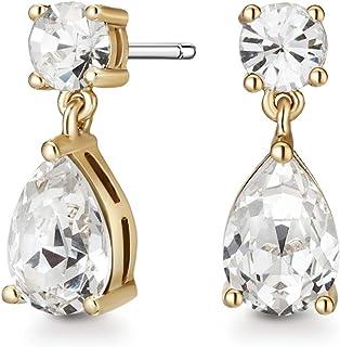 Mestige Women Glass Gold Samira Earrings with Swarovski Crystals