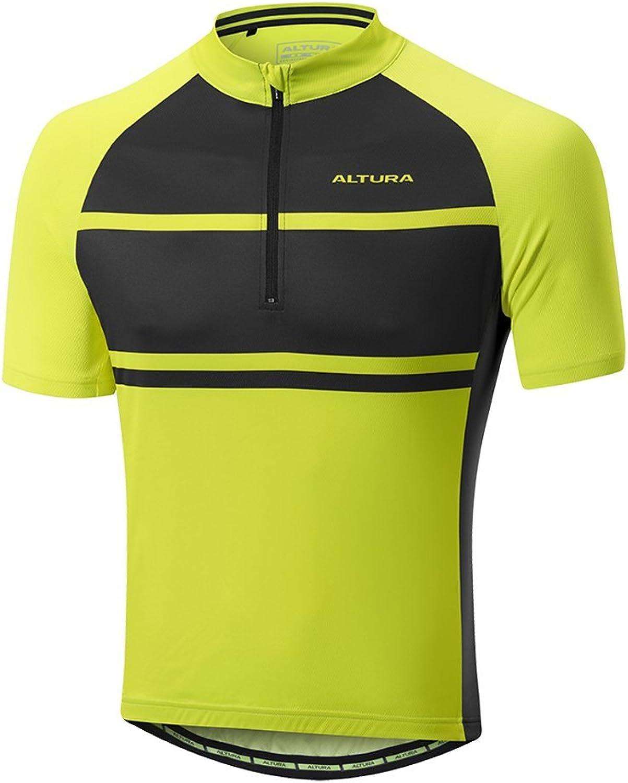 Altura Hiviz YellowBlack Airstream 2 Short Sleeved Cycling Jersey