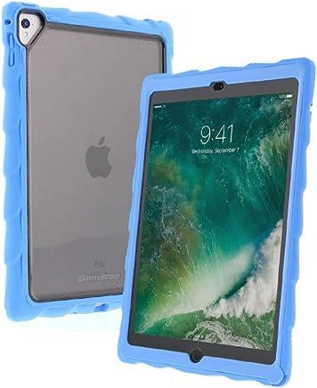 DropTech 透明手机壳适用于 Apple iPad Pro 9.7 (2016) A1673、A1674、A1675 和 iPad Air 2(2014 年末)A1566、A1567 减震坚固手机壳DTC-APIPDPRO9-LBL_SM