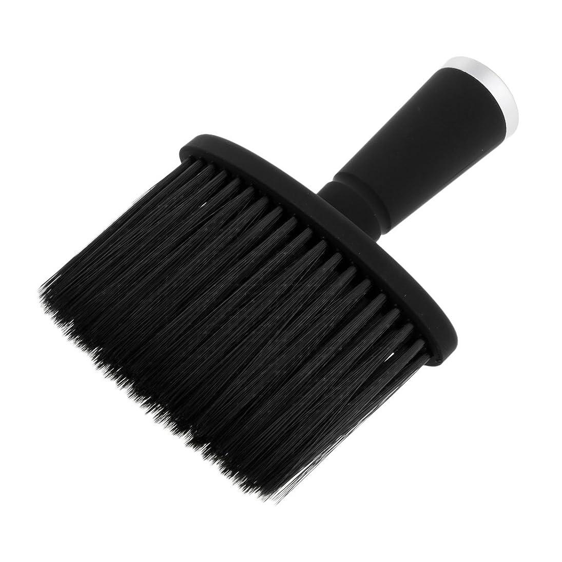 配偶者メタルライン地味な大広間のスタイリストの理髪師の毛の切断の構造用具のための柔らかい首の塵払いのブラシ - 銀