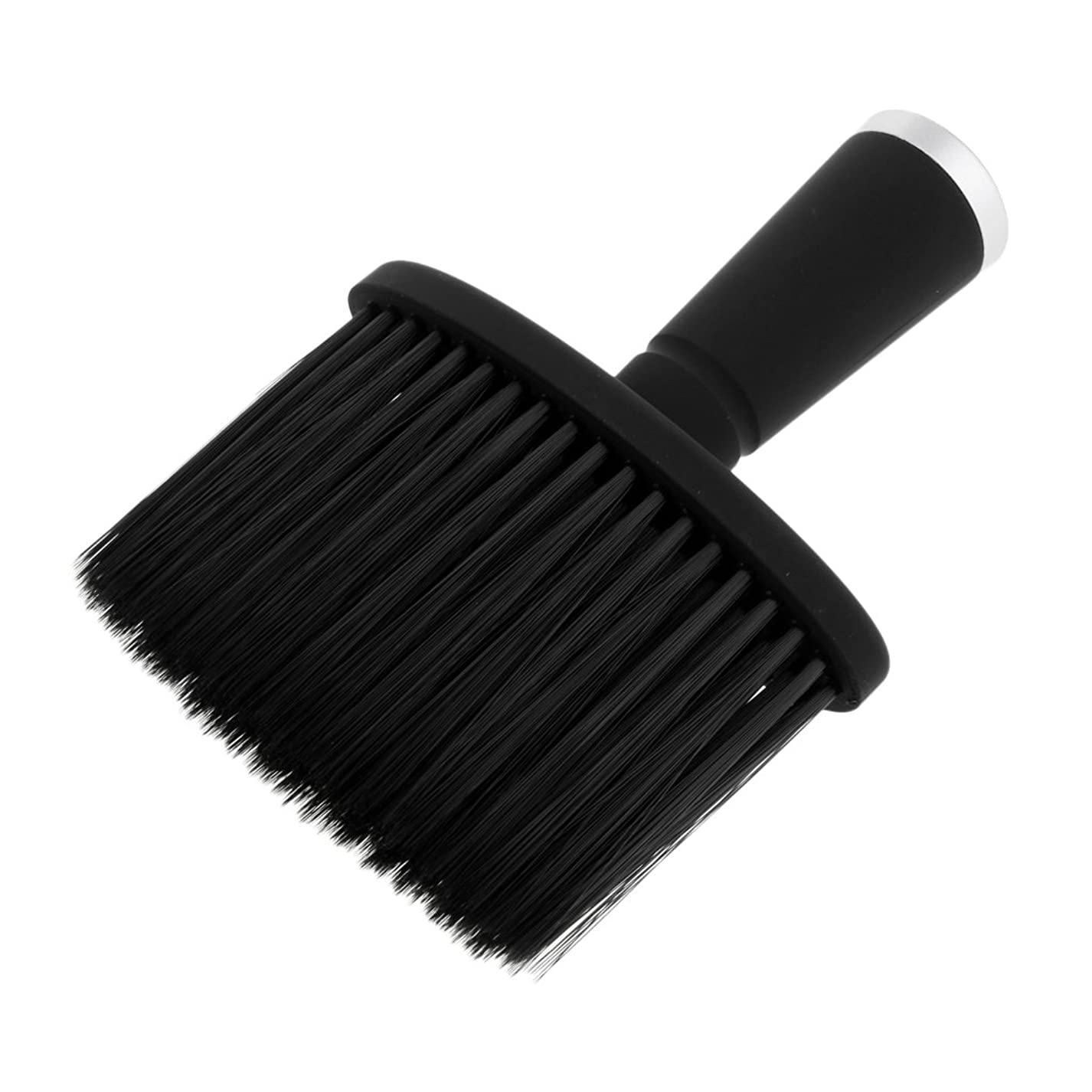 レバー改善八百屋大広間のスタイリストの理髪師の毛の切断の構造用具のための柔らかい首の塵払いのブラシ - 銀
