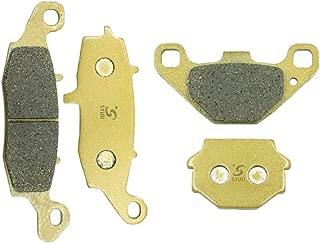 SYUU Motorcycle Replacement Front and Rear Brake Pads Brakes for Kawasaki KLR650 KLR 650 C1-C10 1995 1996 1997 1998 1999 2000 2001 2002 2003 2004 FA229F FA067R