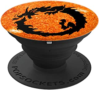 Ouroboros Serpent Snake Dragon Solar Flare - PopSockets Grip and Stand for Phones and Tablets