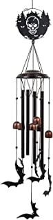 Monsiter QE Wind Chimes Halloween Decoration,Outdoor Large Windchime with 4 Aluminum Tubes,Unique Bat Wind Chime for Garde...