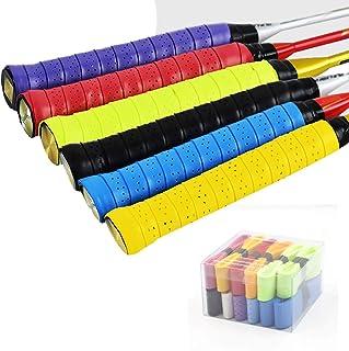 DEXING 12 Pack Tennis Overgrip Tennis Racket Grip Anti Slip Tennis Racquet Overwraps Absorb Moisture Tennis Racquet Grip f...