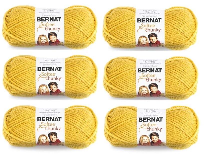 Bulk Buy: Bernat Softee Chunky Yarn (6-Pack) Glowing Gold 161128-28607
