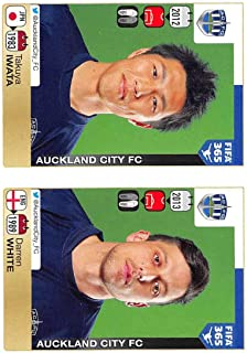 2015-16 Panini FIFA 365 Stickers Soccer #678-679 Takuya Iwata/Darren White Trading Card Sized Album Sticker
