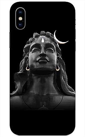 Madanyu Shiv Shankar Mahadev Face Art Designer Printed Hard Back Shell Case for iPhone X
