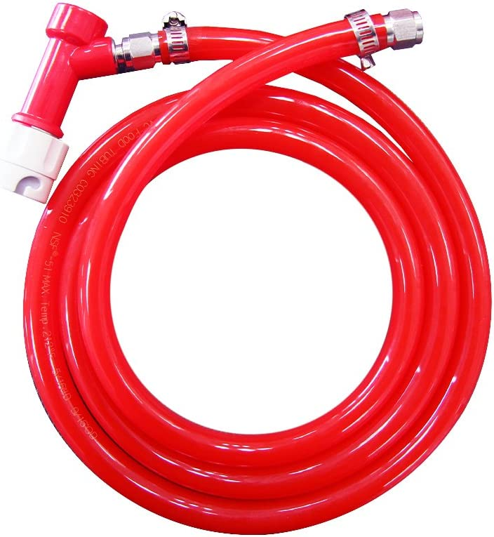Pin lock line assembly Pin Lock Gas Quick Disconnect with 5ft gas line air tubing for home brewing Keg Kegging by PERA