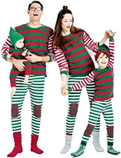 LvRao Family Matching Christmas Pajamas Set Xmas Striped PJs Sets Sleepwear Nightwear