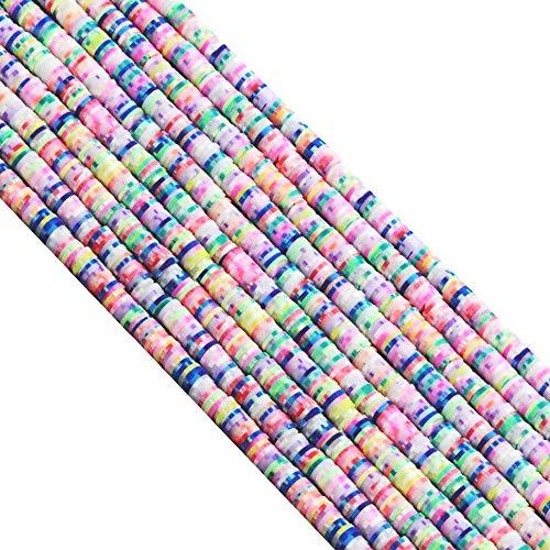 Airssory 4000 piezas hechas a mano de arcilla polimérica Heishi cuentas para bricolaje, mujeres y hombres, joyería hawaiana, gargantilla tobillera, collar, suministros de manualidades, 6 mm