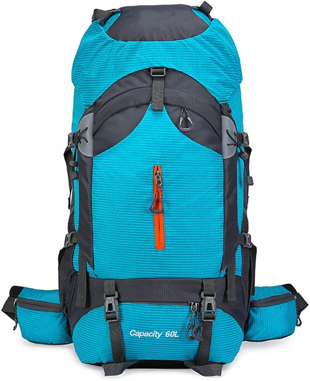 Wanderrucksack 60L - Wanderrucksack Leichter, wasserdichter, tragbarer und atmungsaktiver Laptopfach - Wandern auf Reisen Camping - Männer und Frauen Blauer See B07P69FYDT  Auktion